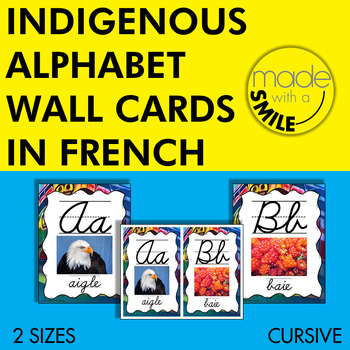 Indigenous Alphabet Wall Cards French Version (Cursive)