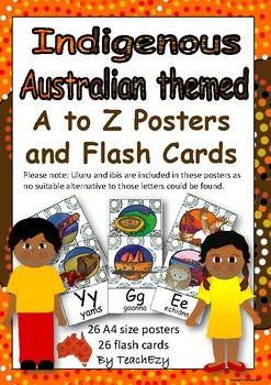 Indigenous Australian Themed A-Z Posters and Flashcards