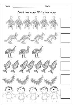 Aboriginal (Indigenous Australia) Worksheets K/1