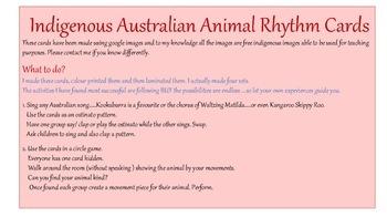 Indigenous Australian Animal  Rhythm Cards