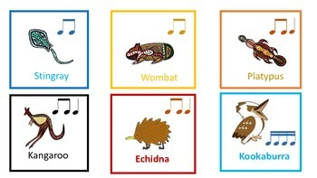 Indigenous Australian Animal  Rhythm Cards