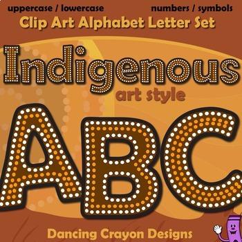 Indigenous Australian Art Style Alphabet Letters - Clipart ...