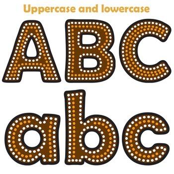Indigenous Australian Art Style Alphabet Letters - Clipart