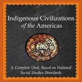 Aztec, Inca, Maya, Native Americans Unit - Printable and D