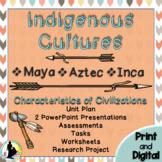 Ancient Civilization Unit: Maya Aztec Inca Indigenous Cultures