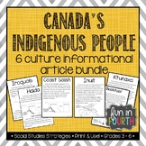 Indigenous (First Nations, Aboriginal) Cultures Informational Articles Bundle