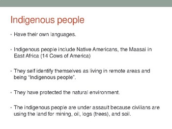 Indigenous People PPT