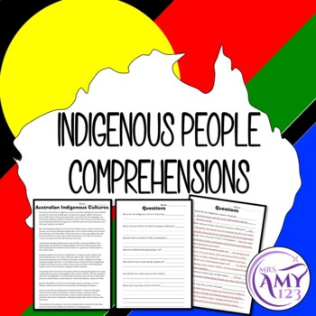 Indigenous Peoples Comprehension- Great for NAIDOC Week