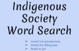 Indigenous Society Word Search