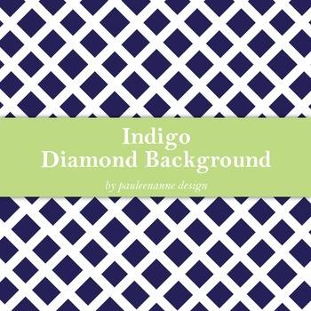 Indigo Diamond Pattern Background