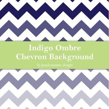 Indigo Ombre Chevron Background