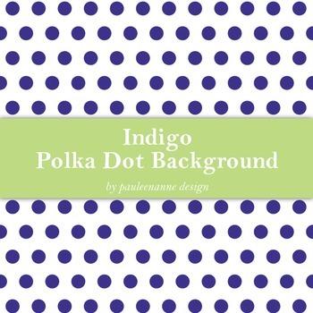 Indigo Polka Dot Background