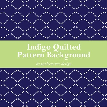 Indigo Quilted Pattern Background