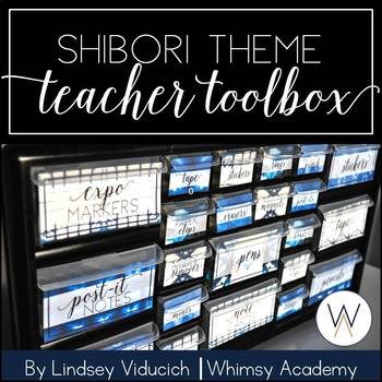Indigo Shibori Teacher Toolbox {EDITABLE}