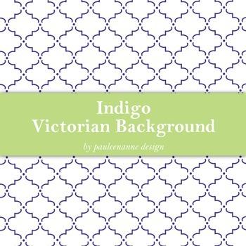 Indigo Victorian Pattern Background
