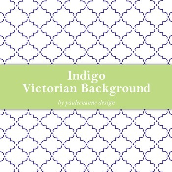 Indigo Victorian Pattern Background