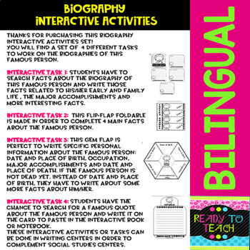 Indira Ghandi - Interactive Activities - Dual Language