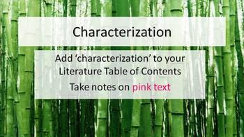 Indirect Characterization Explanation Presentation