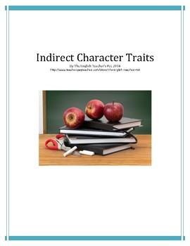 Indirect Characterization Worksheet
