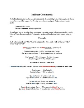 Indirect Commands Guide