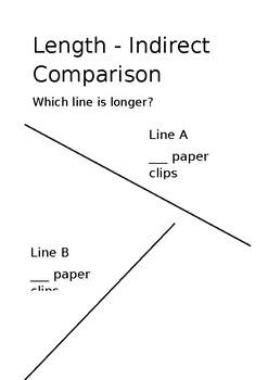 Indirect Comparison Worksheet