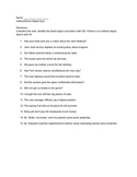 Indirect/Direct Object Quiz