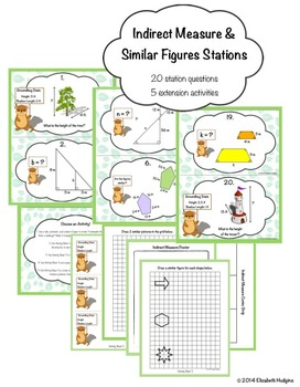 Indirect Measure and Similar Figures Stations