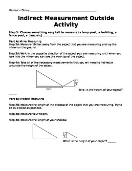 Indirect Measurement Activity