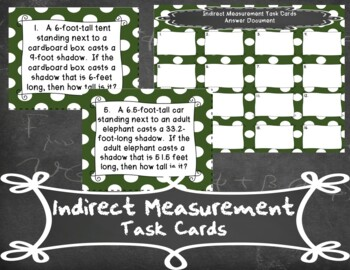 Indirect Measurement Task Cards