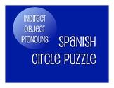 Spanish Indirect Object Pronoun Circle Puzzle