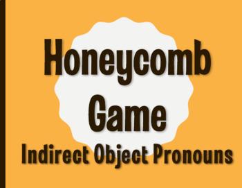 Spanish Indirect Object Pronoun Honeycomb Partner Game