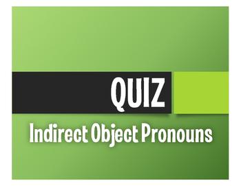 Spanish Indirect Object Pronoun Quiz