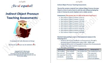 Indirect Object Pronoun Teaching Assessments