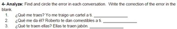 Indirect Object Pronoun Tarea (with Traer and Dar)