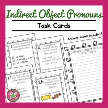 Indirect Object Pronoun Task Cards