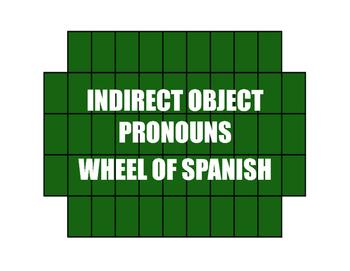 Spanish Indirect Object Pronoun Wheel of Spanish