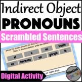 Indirect Object Pronoun in Spanish Sentence Scramble Digital Activity for Google