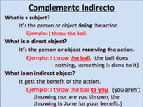 Indirect Object Pronouns Initial Teaching (El Complemento