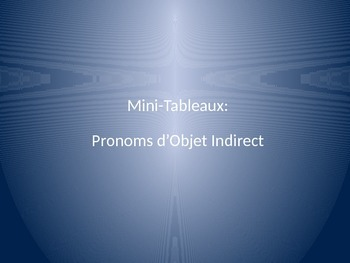 Indirect Object Pronouns : Partner Game with Mini-White Boards