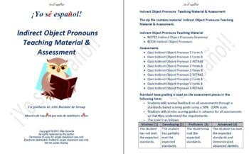 Indirect Object Pronouns  Teaching Material & Assessment