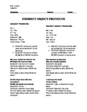 Indirect Object Pronouns Worksheet