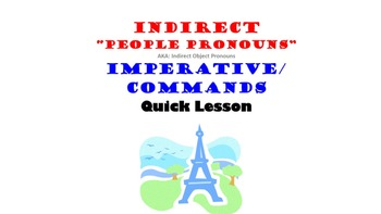 Indirect Object Pronouns in French: Imperative, Commands