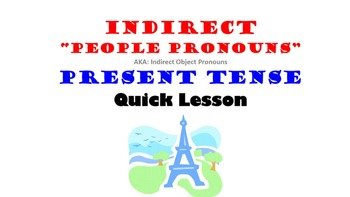Indirect Object Pronouns in French: Present Tense