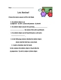 Indirect Objects Review Worksheet