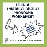 French Indirect Object Pronouns Worksheet - Complément d'O
