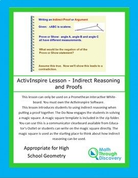 ActivInspire Lesson - Indirect Reasoning and Proofs