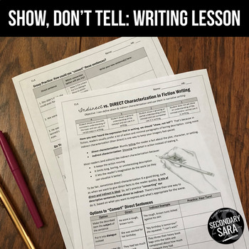 "Indirect and Direct Characterization: ""Show, Don't Tell"" Writing Lesson"