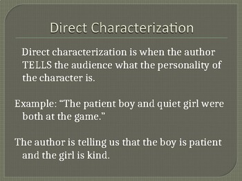 Indirect and Indirect Characterization in The Great Gatsby ppt
