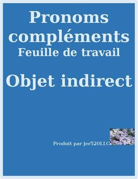 Pronoms compléments Indirect object pronouns worksheet 8