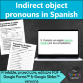 Indirect object pronouns in Spanish grammar practice